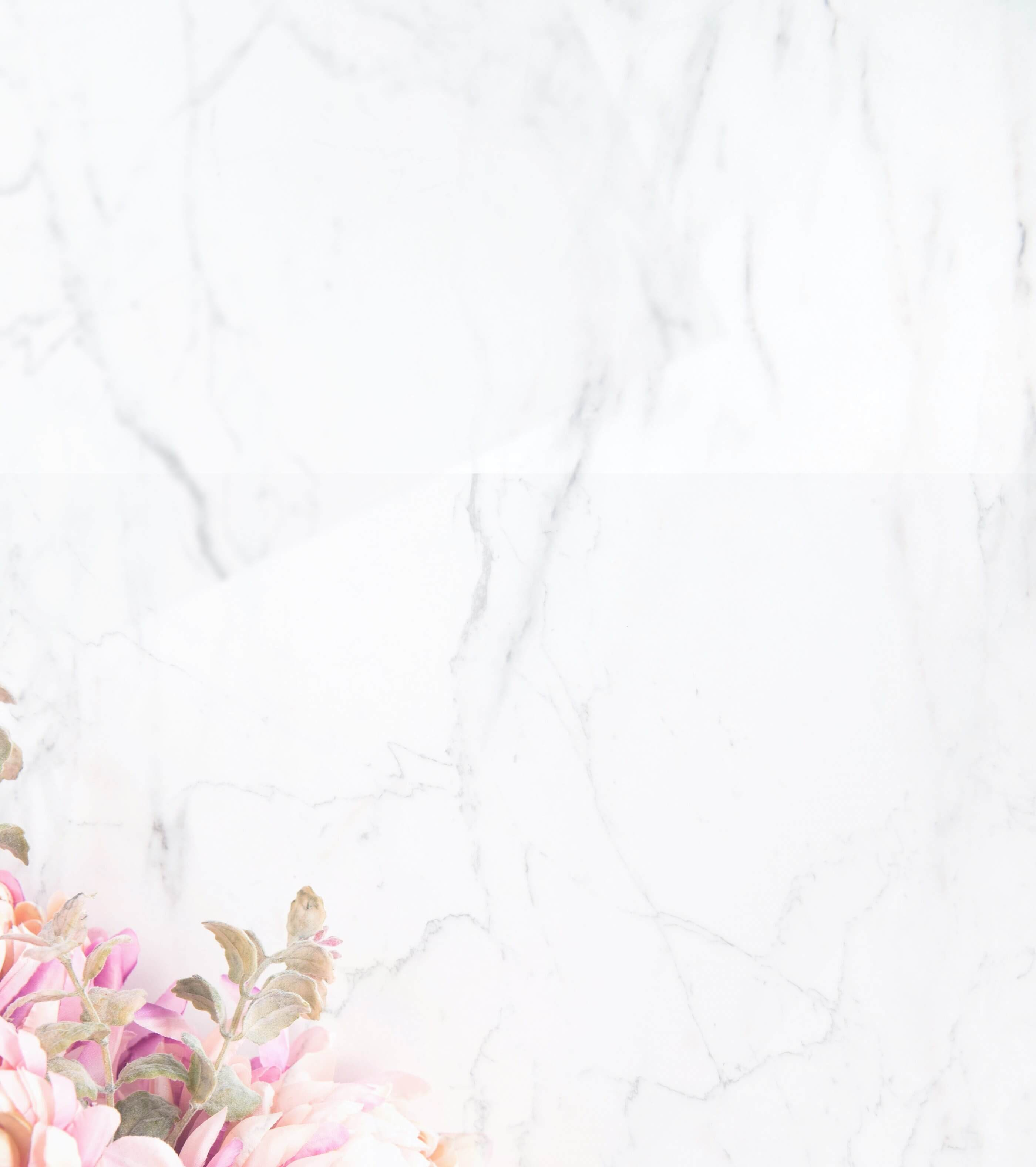 Marble and flowers background